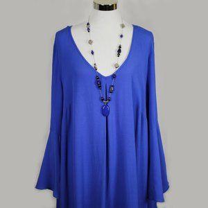 NWT Plus Size Eloquii Blue Bell Sleeve Dress